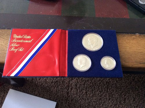 1976 Silver Bicentennial Three Coin Proof Set