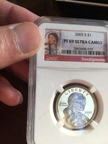 2005-S SAC$1 PF69 UCAM Sacagawea US One Dollar PF-69 NGC DCAM PROOF CAMEO Coin