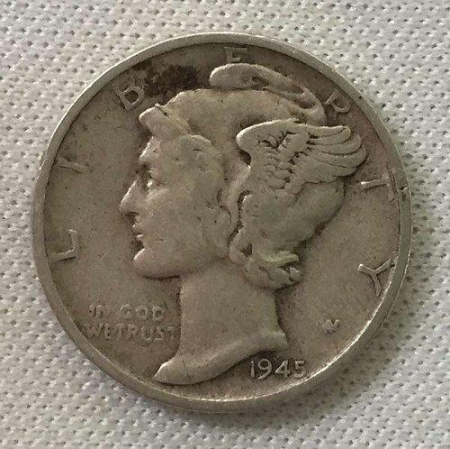1945 S Mercury Dime
