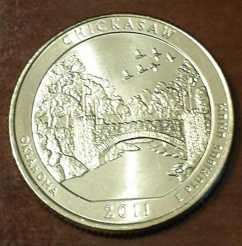 2011-P Chickasaw Quarter - From US Mint Roll (5678)
