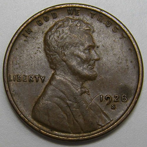 1928 S Lincoln Wheat Cent #4