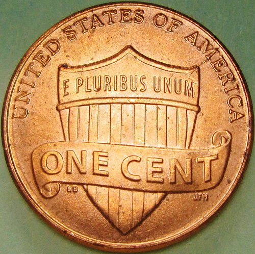 2013 P Lincoln Cent Reverse Die Break