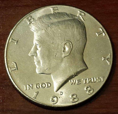 1988-D Kennedy Half Dollar (5687)