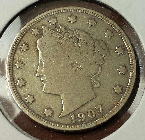 "1907 Liberty (""V"" Victory) Nickel (5688)"