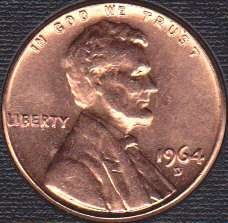 1964D Lincoln Memorial Cent