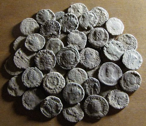 Uncleaned Ancient Roman Bronze Coins AE3/4
