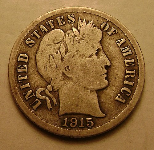 1915 VG Very Good Barber Dime Free Shipping