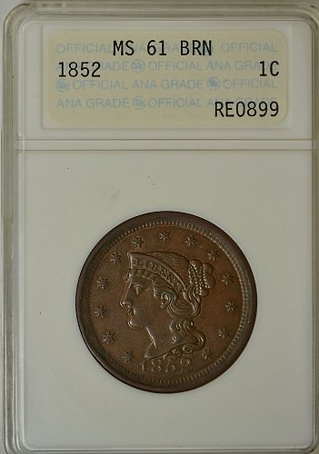 ANACS MS61 Braided Hair Large Cent (Planchet Error Obverse and Reverse Rim)