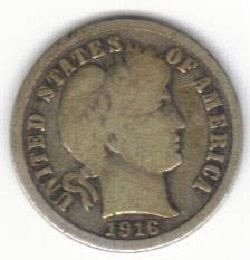 1916 Barber / Liberty Head Dime