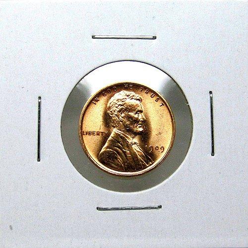 1909 P Lincoln Wheat Cent - Gem BU