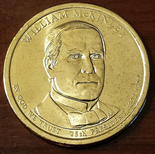 2013-D William McKinley Presidential Dollar (5713)