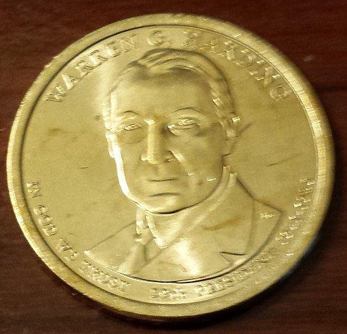 2014-D Warren G Harding Presidential / Golden Dollar (5717)