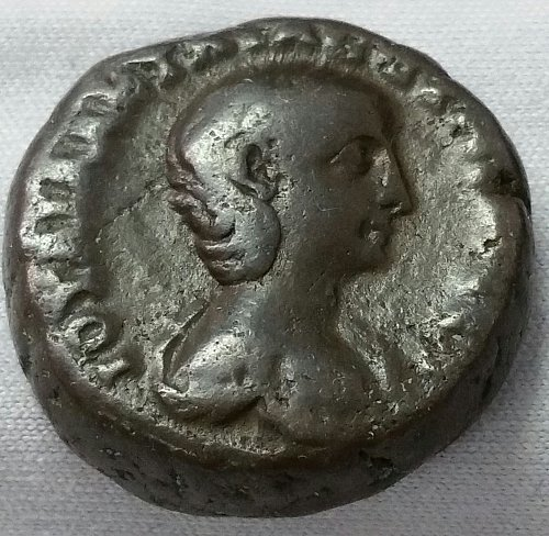Aquila Severa, Second wife of Elagabalus ~ Billion Tetradrachm ~ 14.40 gm ~ VF