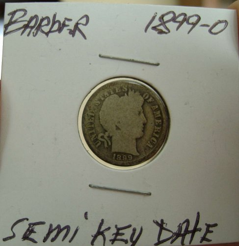 1899-O semi-key Barber Dime Free Shipping