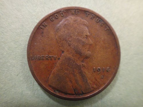 1914-S Lincoln Cent Fine-12 Very Nice Coin With Minimal Marks!
