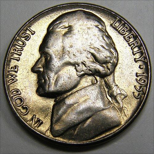 1955 D Jefferson Nickel #3