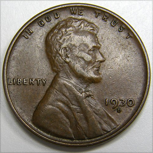 1930 D Lincoln Wheat Cent #2