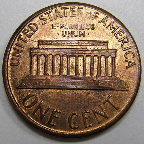 1987 P Lincoln Cent #2 - Reverse Die Crack ERROR 10:00