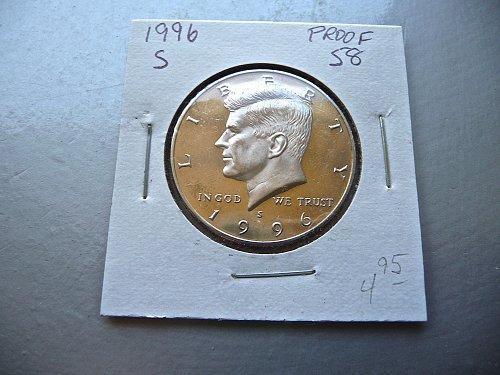 1996-S Kennedy Half Dollar
