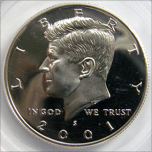 PROOF 2001 S Kennedy Half Dollar CLAD
