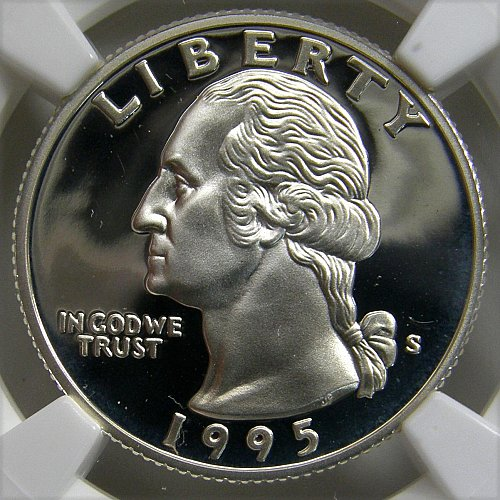 1995-S WASHINGTON QUARTER SILVER