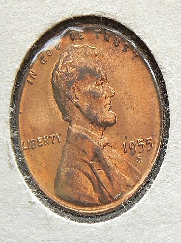 1955 S Lincoln Cent