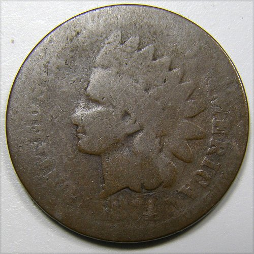 1874 P Indian Head Cent #6