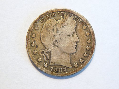 1907-P Silver Barber Quarter