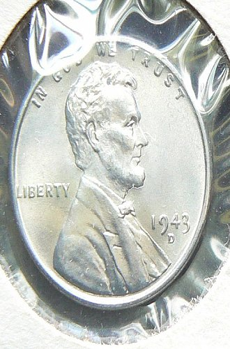 1943 D Lincoln Cent BU65
