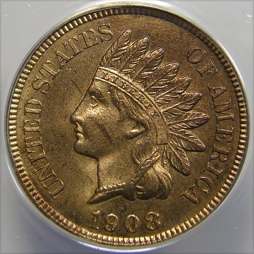1908 P Indian Head Cent SNOW 2 RPD