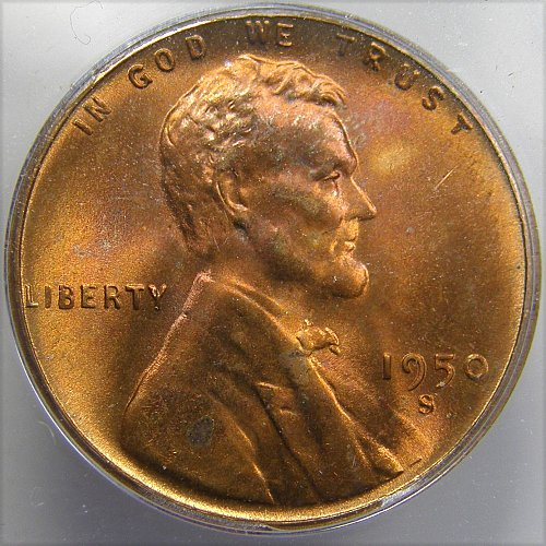 1950 S Lincoln Wheat Cent