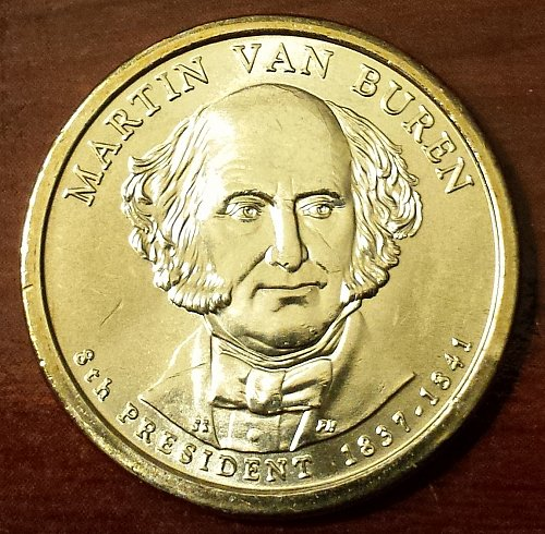 2008-P $1 Martin Van Buren Presidential (Golden) Dollar - From Mint Roll (5751)
