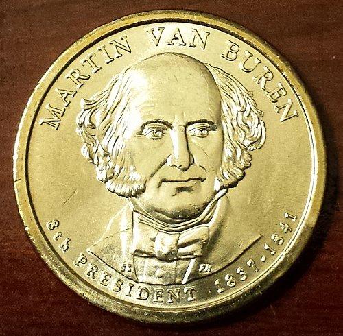 2008-P $1 Martin Van Buren Presidential (Golden) Dollar - From Mint Roll (5751)