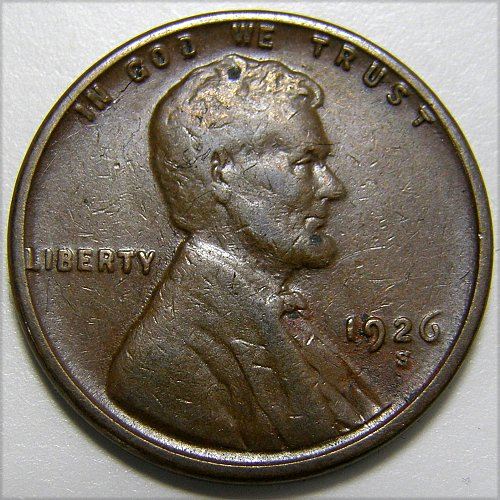1926 S Lincoln Wheat Cent #9