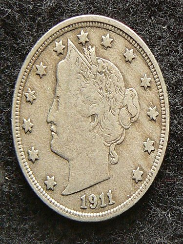 1911 P Liberty Nickel (VF-20)