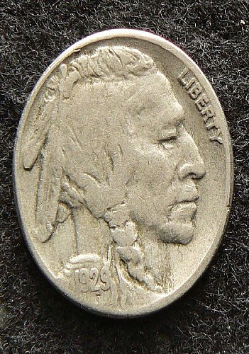 1929 S Buffalo Nickel (F-12)