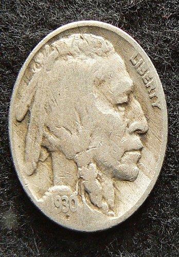 1930 P Buffalo Nickel (G-4)
