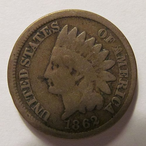 1862 Indian Head cent in good condition.