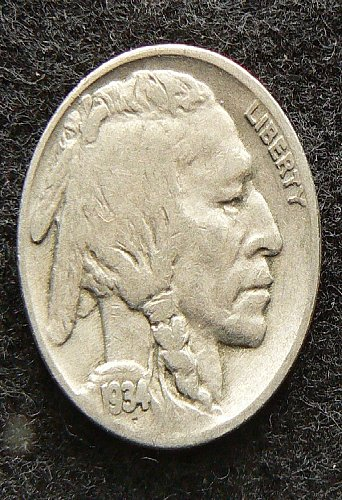 1934 P Buffalo Nickel (F-12)