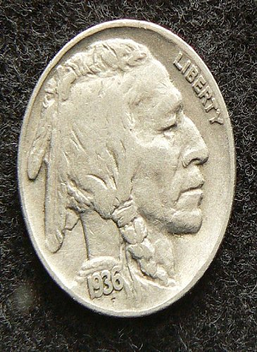 1936 P Buffalo Nickel (F-12)