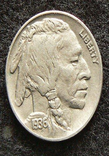 1936 P Buffalo Nickel (EF-40)