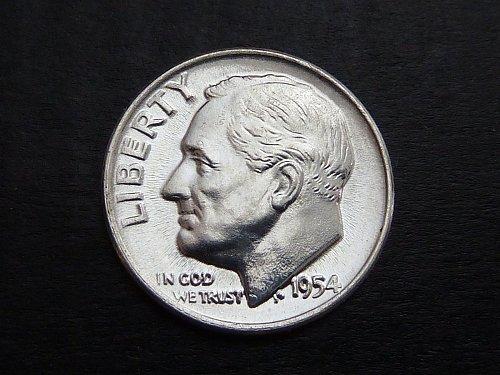 1954 D Roosevelt BU Silver Dimes