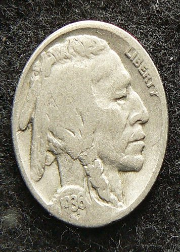 1936 S Buffalo Nickel (G-4)