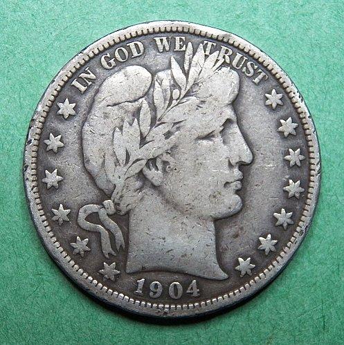 1904 P Barber Half Dollar Fine Coin   c34