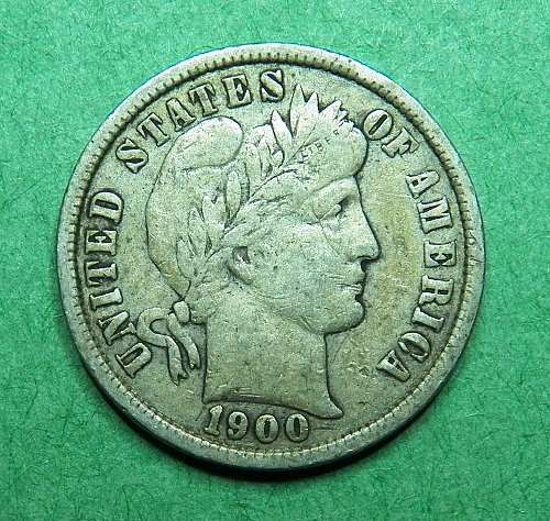 1900 P  Barber Dime Fine Coin   c43