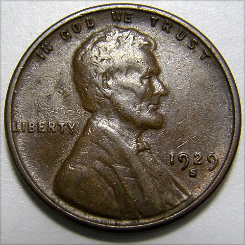 1929 S Lincoln Wheat Cent #2