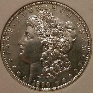 1890 s morgan silver dollar brilliant uncirculated ms64-65 (READ DESCRIPTION)