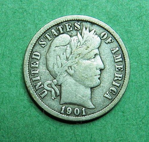 1901 O Barber Dime Fine Coin   c56