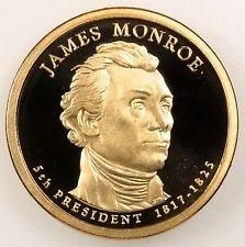 2008 S  PROOF JAMES MONROE GOLDEN DOLLAR