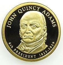 2008 S  J. Q. ADAMS PROOF GOLDEN DOLLAR